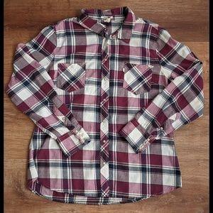 Levi's Plaid Flannel Shirt Size XL Snaps